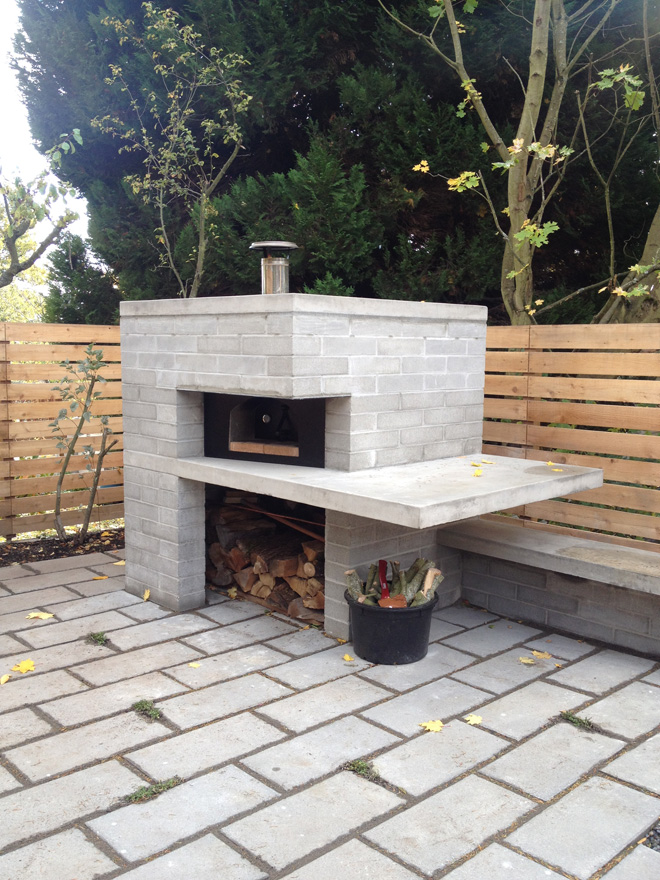 Outdoor pizza oven and garage almost finished shed blog - Pizza jardin san francisco de sales ...